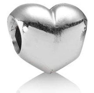 Pandora Smooth Heart Charm, Authentic